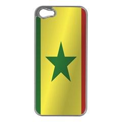 Flag Of Senegal Apple iPhone 5 Case (Silver)