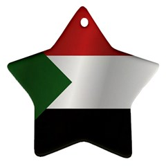 Flag Of Sudan Star Ornament (Two Sides)