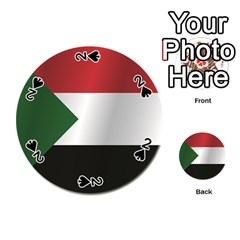 Flag Of Sudan Playing Cards 54 (Round)