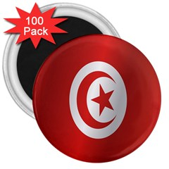 Flag Of Tunisia 3  Magnets (100 pack)
