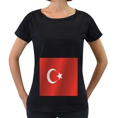 Flag Of Turkey Women s Loose-Fit T-Shirt (Black)