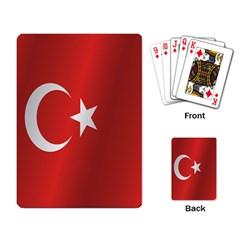 Flag Of Turkey Playing Card