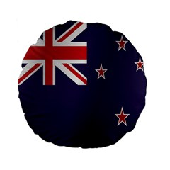 Flag Of New Zealand Standard 15  Premium Flano Round Cushions