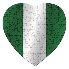 Flag Of Nigeria Jigsaw Puzzle (Heart)
