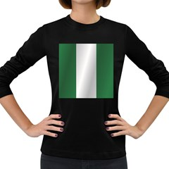 Flag Of Nigeria Women s Long Sleeve Dark T-Shirts