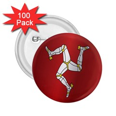 Flag Of Isle Of Man 2.25  Buttons (100 pack)