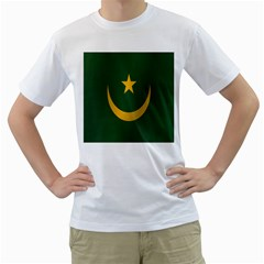 Flag Of Mauritania Men s T-Shirt (White) (Two Sided)