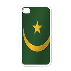 Flag Of Mauritania Apple iPhone 4 Case (White)
