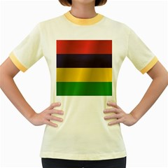 Flag Of Mauritius Women s Fitted Ringer T-Shirts