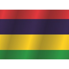 Flag Of Mauritius Birthday Cake 3D Greeting Card (7x5)