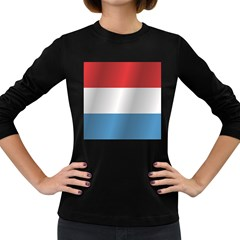 Flag Of Luxembourg Women s Long Sleeve Dark T-Shirts