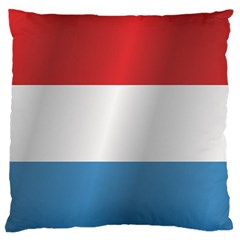 Flag Of Luxembourg Large Flano Cushion Case (One Side)