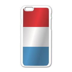 Flag Of Luxembourg Apple iPhone 6/6S White Enamel Case