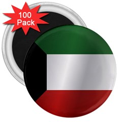 Flag Of Kuwait 3  Magnets (100 pack)