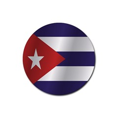 Flag Of Cuba Rubber Round Coaster (4 pack)