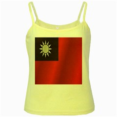 Flag Of Taiwan Yellow Spaghetti Tank