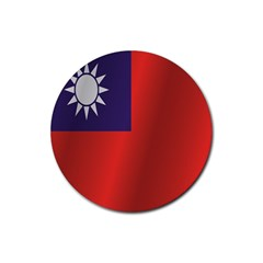 Flag Of Taiwan Rubber Round Coaster (4 pack)
