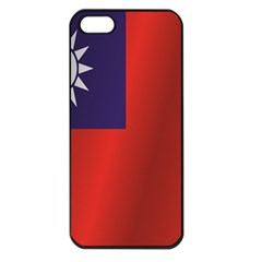 Flag Of Taiwan Apple iPhone 5 Seamless Case (Black)