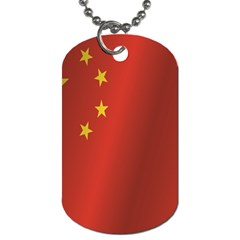 Flag Of China Dog Tag (Two Sides)