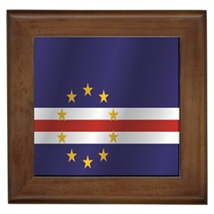Flag Of Cape Verde Framed Tiles