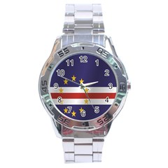 Flag Of Cape Verde Stainless Steel Analogue Watch