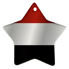 Flag Of Yemen Star Ornament (Two Sides)