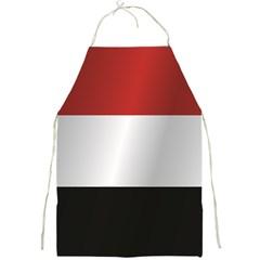 Flag Of Yemen Full Print Aprons