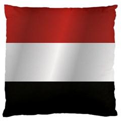 Flag Of Yemen Large Flano Cushion Case (Two Sides)