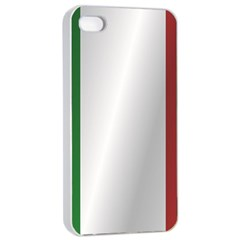 Flag Of Italy Apple iPhone 4/4s Seamless Case (White)