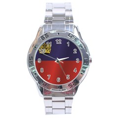Flag Of Liechtenstein Stainless Steel Analogue Watch