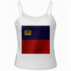 Flag Of Liechtenstein White Spaghetti Tank