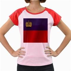 Flag Of Liechtenstein Women s Cap Sleeve T-Shirt