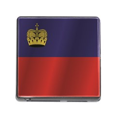 Flag Of Liechtenstein Memory Card Reader (Square)