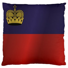 Flag Of Liechtenstein Large Cushion Case (Two Sides)