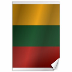 Flag Of Lithuania Canvas 12  x 18