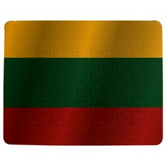 Flag Of Lithuania Jigsaw Puzzle Photo Stand (Rectangular)