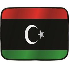Flag Of Libya Fleece Blanket (Mini)