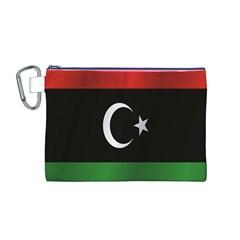 Flag Of Libya Canvas Cosmetic Bag (M)