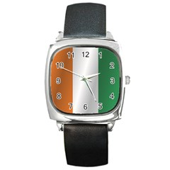 Flag Of Ivory Coast Square Metal Watch