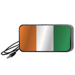 Flag Of Ivory Coast Portable Speaker (Black)