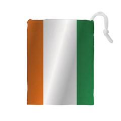 Flag Of Ivory Coast Drawstring Pouches (Large)