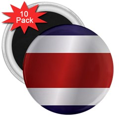 Flag Of Costa Rica 3  Magnets (10 pack)