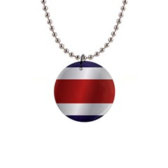 Flag Of Costa Rica Button Necklaces
