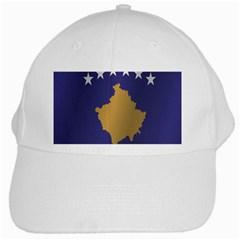 Flag Of Kosovo White Cap