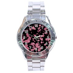 Pink Love Stainless Steel Analogue Watch