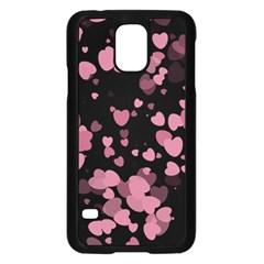 Pink Love Samsung Galaxy S5 Case (black)