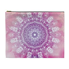Pink Watercolour Mandala Cosmetic Bag (XL)
