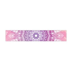 Pink Watercolour Mandala Flano Scarf (Mini)