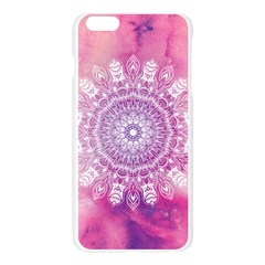 Pink Watercolour Mandala Apple Seamless iPhone 6 Plus/6S Plus Case (Transparent)