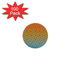 Ombre Fire And Water Pattern 1  Mini Buttons (100 Pack)